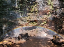 Rainbow at a waterfall in Jharkhand India
