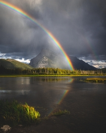 Rainbow Over Mount Rundle - Banff National Park Alberta zane__olson x