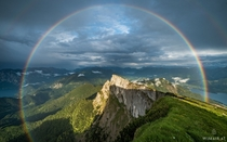 rainbow over Schafberg Austria  by Wim Air xpost rAustriaPics