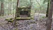 Remnants of a fireplace we ran into while backpacking in the Big South Fork Built around s