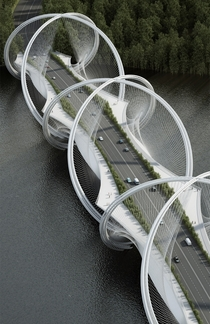 San Shan bridge concept design by Penda for Beijing Olympic Winter Games