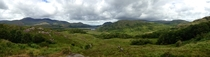 shades of Green in Co Kerry Ireland Panorama