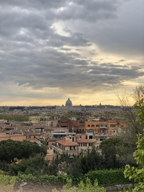 Shot of Rome Italy and Basilica