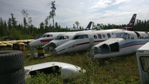 Small Town Airplane Bone Yard