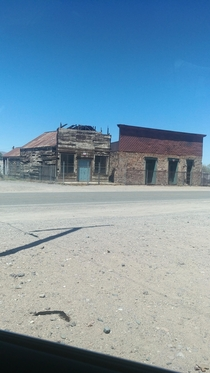 Some abandoned shops in small town America Southern California