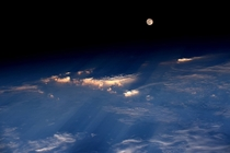 Space Station View of the Full Moon