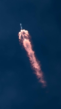 SpaceX Falcon  CRS- engines bloom in the upper atmosphere