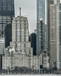Spot the couple for some scale for just how massive these Chicago buildings are