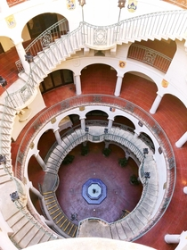 Staircase at the Mission Inn in Riverside California