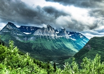 Storm clouds rolling through Glacier National Park Montana  x  c_connolly