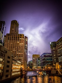 Storms over Chicago by cmozz