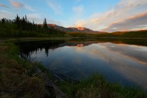 Summer Evening on Hidden Lake Yukon California