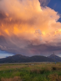Summer sunsets in Paradise Watching a storm roll in from the back porch Paradise Valley Pray Montana