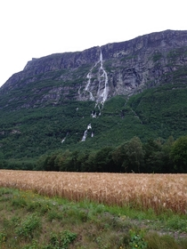 Sunndal Vinnu Falls th tallest waterfall in the world apparently Not the best of shots though