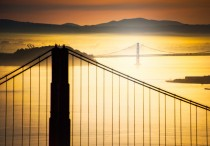 Sunrise over San Francisco Bay by Stuck in