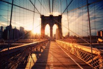 Sunset onBrooklyn BridgeNew York  Phillipp