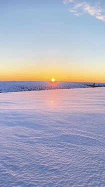 Sunset view from top of the mountain Slen Sweden  x