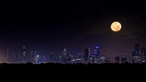 Supermoon over Melbourne Australia