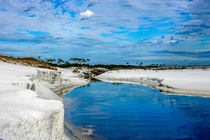 Sweet Meets Savory Morris Lake Cut flowing into the Gulf of Mexico Topsail Hill Preserve FL