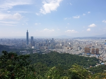 Taipei seen from the southeast looking northwest photo taken during a hike this past weekend