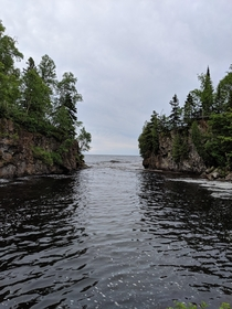 Temperance River where flows into Lake Superior in Northern MN Wish the light had been better today but nothing you can do about overcast weather x