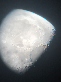 Testing my telescope and go this moon image sorry if its cliche