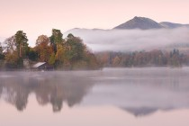 The boathouse in Derwent Water Lake District