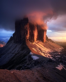 The Burning Peaks - DolomitesItaly x One of the best evenings in my photography life