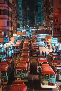 The busy streets of Hong Kong before all this madness February