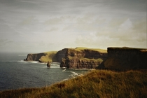 The Cliffs of Moher with Breanan Mor rock County Clare Ireland