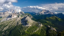 The Dolomites from Lagazoui m