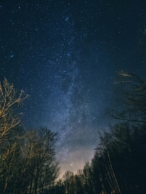The gorgeous night sky above northern Vermont