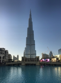 The iconic Burj Khalifa Dubai six years ago today Hard to imagine jumping on a plane and flying halfway around the world