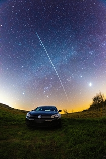 The ISS over the Golf of VW