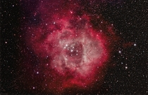 The magnificent Rosette Nebula This is on a Canon Ti with Ha and OIII filter Orion EDCF CGEM-DX