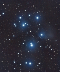 The Pleiades Star Cluster from my backyard in Sunnyvale CA