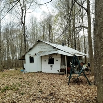 The shack my grandpa used to use when hed make maple syrup up until about  years ago Located in Northeastern Wisconsin