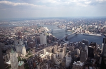 The Williamsburg Manhattan and Brooklyn Bridges from  WTC