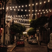 This back alley on a warm Saturday night North Beach San Francisco