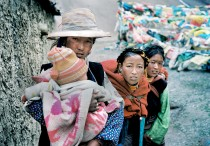 Tibetan Women with Baby by lylevincent