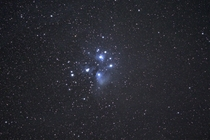 Two -  Second Exposures of Pleiades Stacked and Stretched from Bortle  Skies