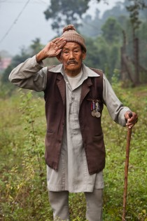 via Gurkha Welfare Trust - pensioners on
