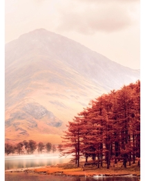 view across lake Buttermere in the Lake District England x