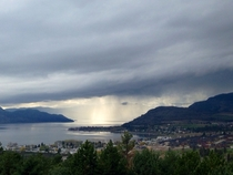 View from Mission Hill winery west kelowna BC