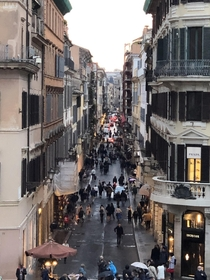 View of busy street in Rome Italy