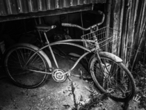 Vintage bicycle found in abandoned barn Nashville Indiana