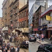 vs  A quick look at street view for  Mulberry St NYC compared to the historic image
