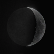 waxing crescent with Canon D II   mm