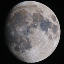 Waxing Gibbous in Color
