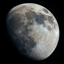 Waxing Gibbous in IRRGB - photographed from my apartment roof